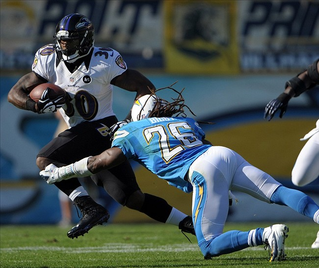 San Diego Chargers Baltimore Ravens: Ravens 0 @ Chargers 10 Halftime Thoughts