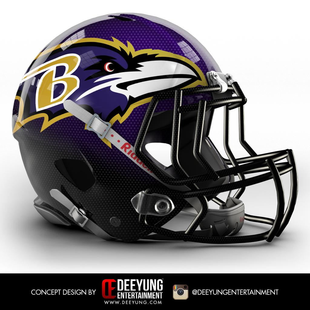 b52ee8f79 Baltimore Ravens Helmet Design Concept is Awesome